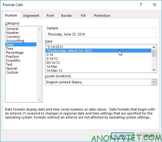 Bài 133: Định dạng Date và Time trong Excel 28