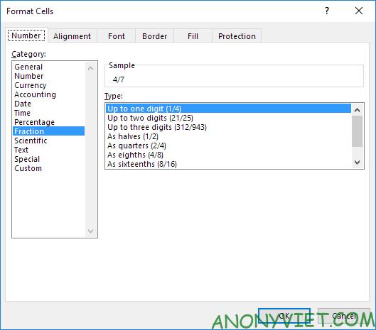 Bài 40: Cách nhập và định dạng Phân số trong Excel 32