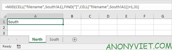 Bài 37: Cách lấy tên trang tính trong Excel 28