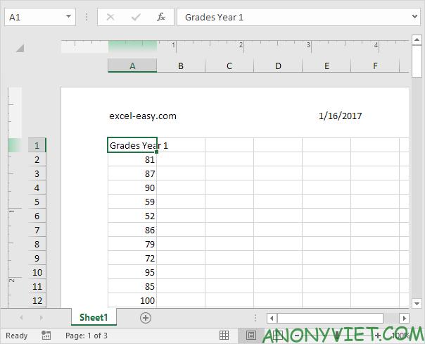 Bài 84: Cách sử dụng Header và Footer trong Excel 32