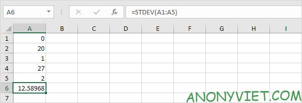 Bài 188: Cách sử dụng hàm STDEV trong Excel 65