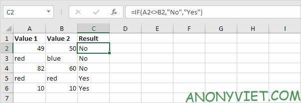 Bà 114: Toán tử so sánh trong Excel 56