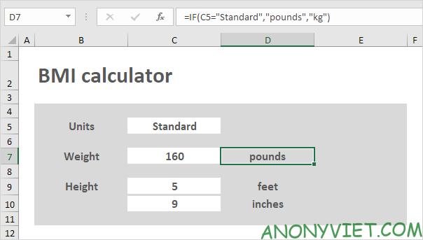 Bài 65: Cách tạo bảng tính BMI trong Excel 38