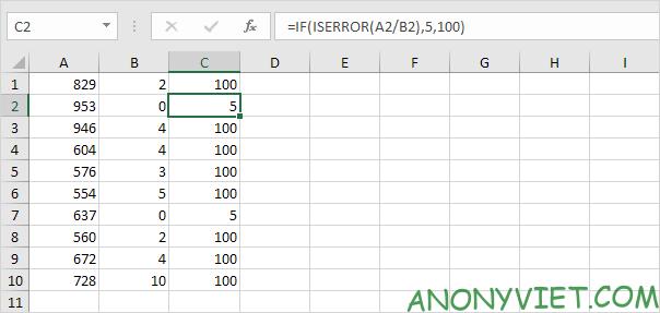 Bài 195: Cách sử dụng hàm IsError trong Excel 26