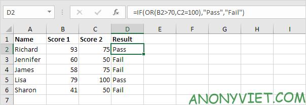Bài 115: Điều kiện Or trong Excel 31