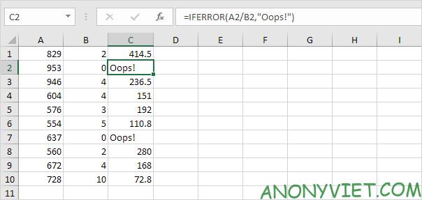 Bài 195: Cách sử dụng hàm IsError trong Excel 27
