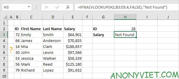 Bài 200: Cách sử dụng hàm IFNA trong Excel 19