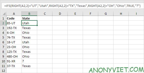 Bài 119: Cách sử dụng hàm SWITCH trong Excel