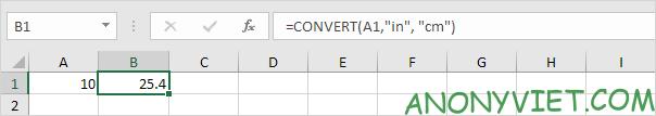Bài 72: Cách chuyển đổi đơn vị từ cm sang inch trong Excel 34