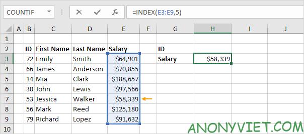 Bài 156: Cách sử dụng Index và Match trong Excel 34
