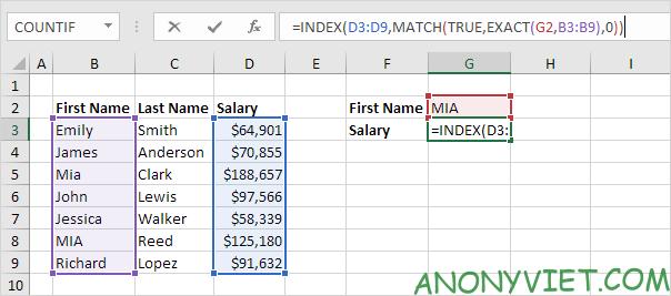 Bài 159: Tra cứu phân biệt chữ hoa chữ thường trong Excel 35