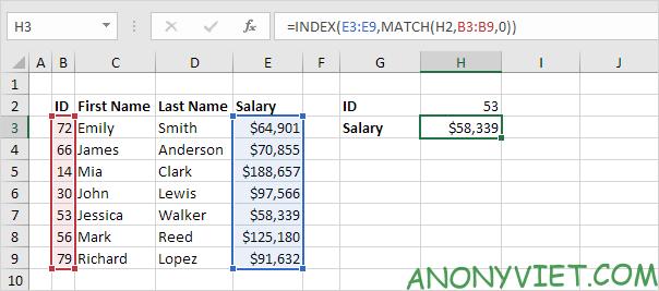 Bài 156: Cách sử dụng Index và Match trong Excel 35