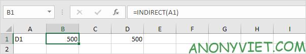Bài 162: Cách sử dụng hàm INDIRECT trong Excel