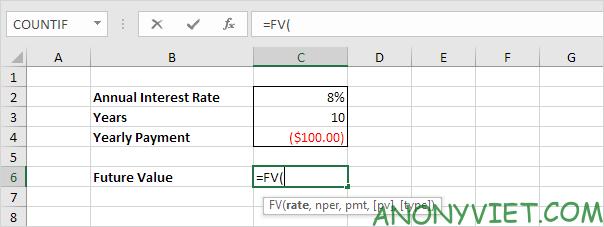 Tính toán khoảng tiết kiệm trong Excel
