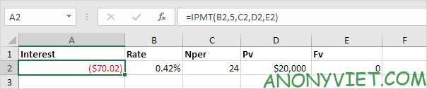 Bài 167: Cách sử dụng hàm PMT trong Excel 43
