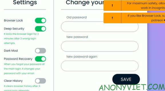 Cách sử dụng Browser Lock Extension để khóa Password trình duyệt