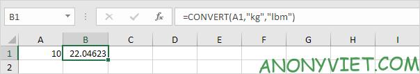Bài 73: Cách chuyển đổi đơn vị từ Kg sang Lbs trong Excel 34