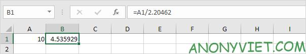 Bài 73: Cách chuyển đổi đơn vị từ Kg sang Lbs trong Excel 33