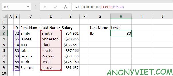 Bài 166: Cách sử dụng hàm Xlookup trong Excel 50