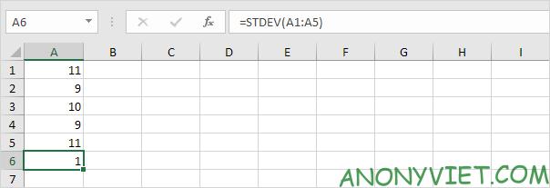 Bài 188: Cách sử dụng hàm STDEV trong Excel 64