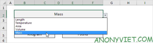 Bài 73: Cách chuyển đổi đơn vị từ Kg sang Lbs trong Excel 35