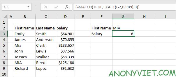 Bài 159: Tra cứu phân biệt chữ hoa chữ thường trong Excel 34