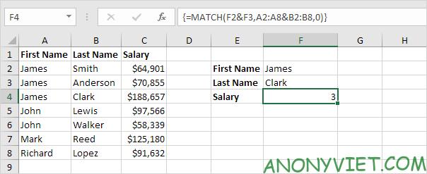 Bài 163: Tra cứu hai cột trong Excel 19