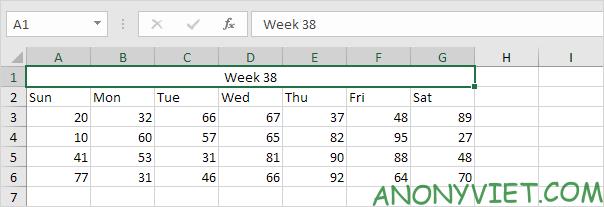 Bài 48: Cách Hợp nhất - Gộp ô trong Excel 33
