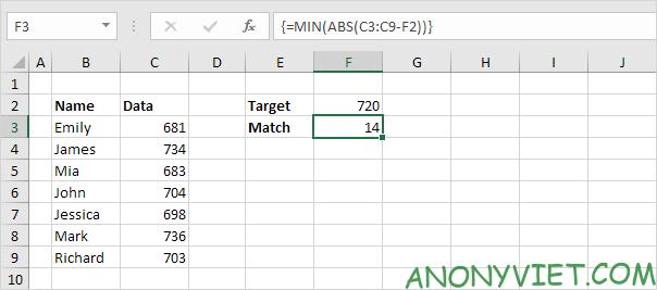 Bài 164: Tìm kết quả khớp nhất trong Excel 29