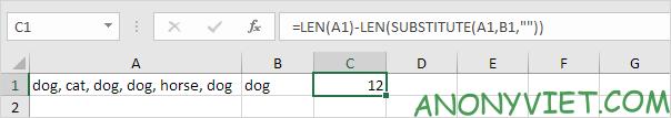 Bài 143: Cách đếm từ trong Excel 57