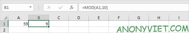 Bài 193: Cách sử dụng hàm Mod trong Excel