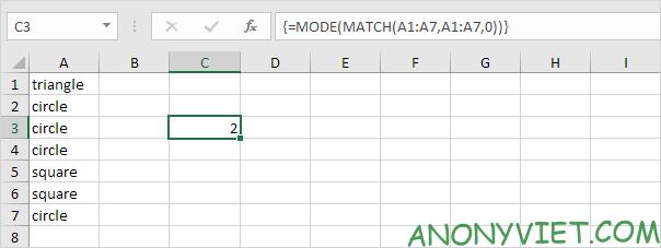 Bài 206: Từ xuất hiện thường xuyên nhất trong Excel 27