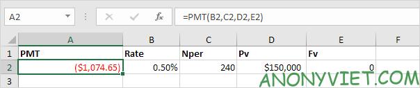 Bài 167: Cách sử dụng hàm PMT trong Excel 38