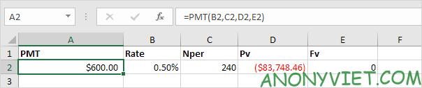 Bài 167: Cách sử dụng hàm PMT trong Excel 40