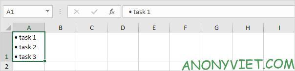 Bài 79: Cách sử dụng ký hiệu đầu dòng trong Excel 41