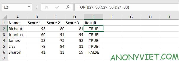 Bài 115: Điều kiện Or trong Excel 32