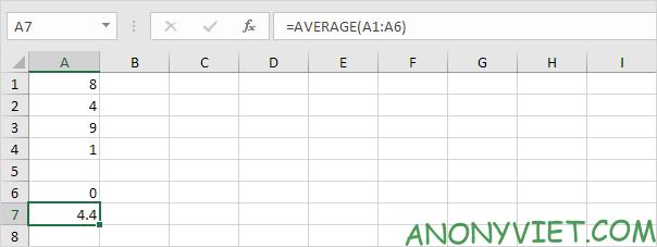 Bài 177: Cách sử dụng hàm AVERAGE trong Excel 50