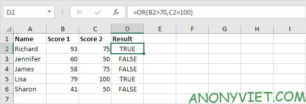 Bài 115: Điều kiện Or trong Excel