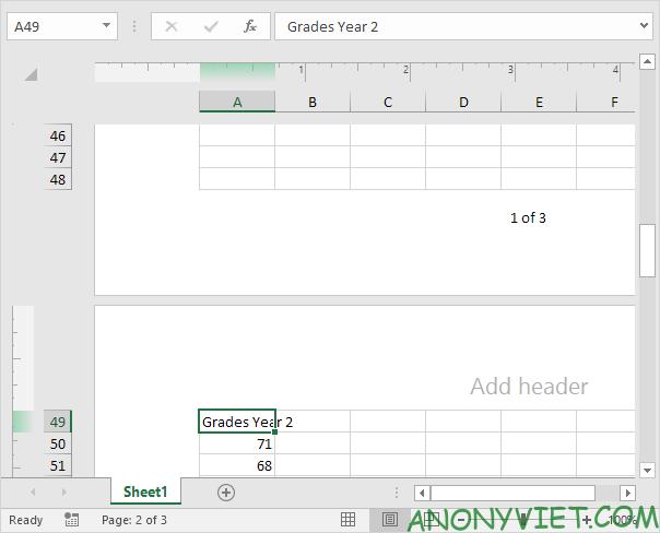 Bài 85: Cách sử dụng Page Number đánh số trang trong Excel 36
