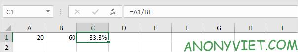 Kết quả tăng chữ số phần thập phân Excel