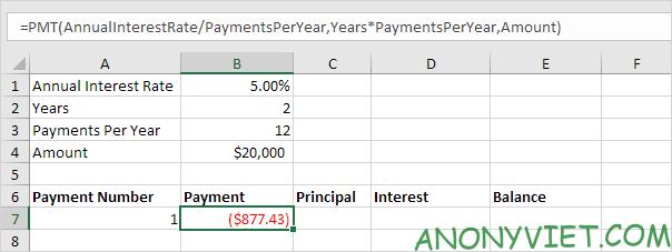 Bài 172: Lập lịch trả dần khoản vay trong Excel