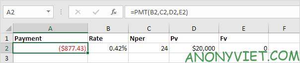 Bài 167: Cách sử dụng hàm PMT trong Excel 41