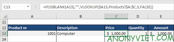 Bài 62: Cách tạo hóa đơn tự động trong Excel 35