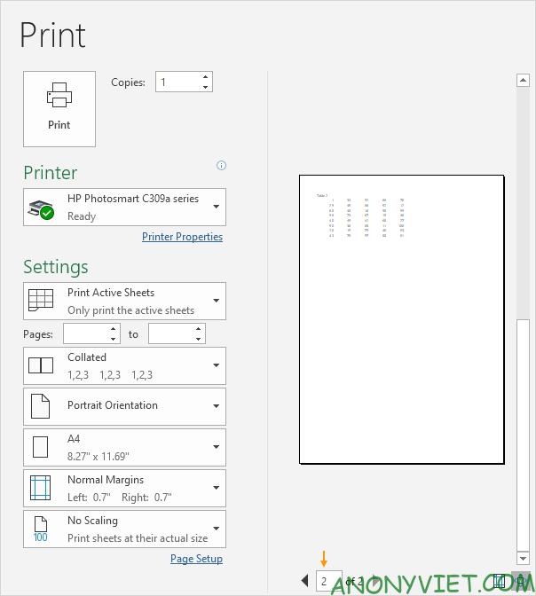 Bài 83: Cách ngắt trang khi in trong Excel 32