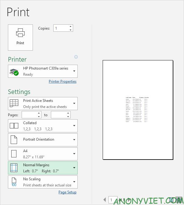 Bài 87: Cách căn giữa nội dung khi in trong Excel 20