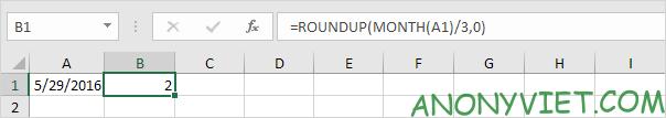 Bài 140: Cách tính quý trong Excel