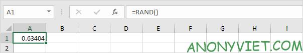 Bài 179: Cách tạo số ngẫu nhiên trong Excel