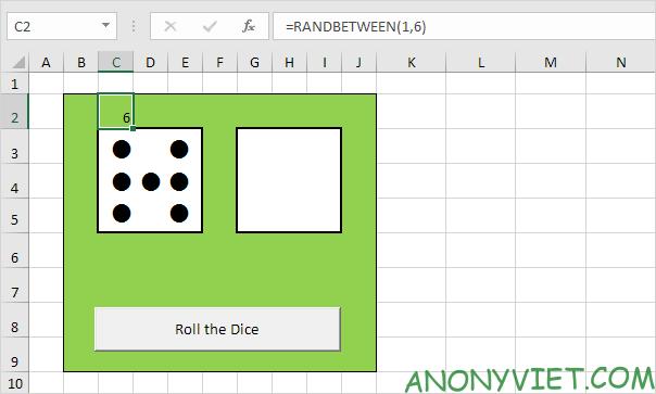 Bài 116: Cách tạo xúc xắc trong Excel 32