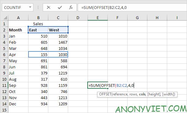 Bài 158: Cách sử dụng hàm Offset trong Excel 39