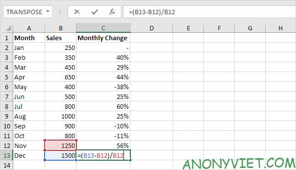 Bài 127: Cách sử dụng phần trăm trong Excel 33